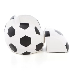 Ball Chair For Kids How To Make Covers Diy Gift Mark Soccer Novelty And Ottoman Reviews Wayfair