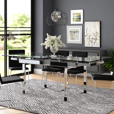 Glass Kitchen  Dining Tables Youll Love in 2019  Wayfair