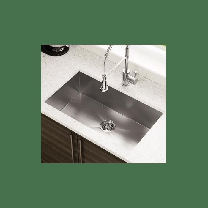 stainless steel undermount kitchen sinks wood counters polaris 32 l x 19 w industrial sink