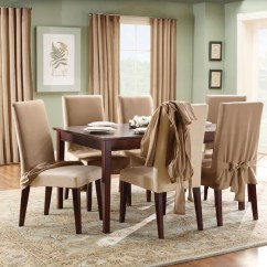 Dining Chair Covers In Store Wheelchair Yusuf Sarai Sure Fit Cotton Duck Full Length Room