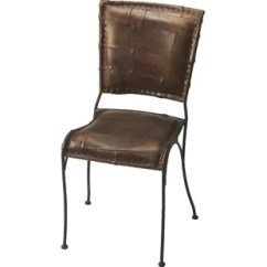 Genuine Leather Dining Chairs Melbourne Office Staples Cognac Chair Wayfair Galena Upholstered