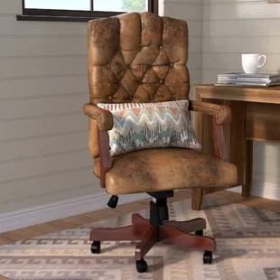 wood office chair bouncy baby desk chairs birch lane riverside executive