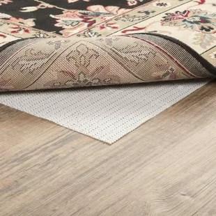 kitchen hot pads wall mounted sink wayfair basics pvc non slip polyester rug pad 0 04