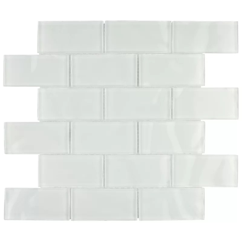 4x8 ocean ripple glass subway wall tile