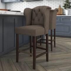 Wood Stool Chair Design Genuine Leather Executive Solid Bar Stools You Ll Love Wayfair Bluebird 26 5 Counter