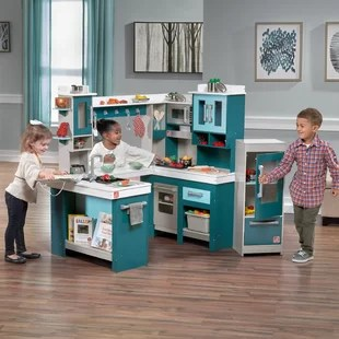 child kitchen set open metal shelving play sets accessories you ll love wayfair grand walk