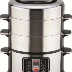 Steamer Kitchen Franke Faucets Hannex 17 Qt 2 Tier Electric Food Reviews Wayfair