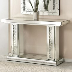 Monarch Specialties Mirrored 38 Sofa Console Table With Drawers Bernhardt Sectional Furniture Awesome Home
