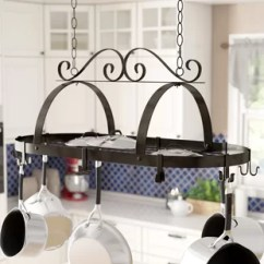 Kitchen Pot Hangers Aid Dishwasher Parts Find Racks For Your Wayfair Hanging Rack