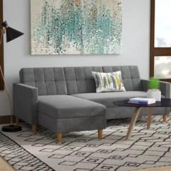 Apt Size Sectional Sofas Elmo Flip Open Slumber Sofa Apartment Wayfair Quickview