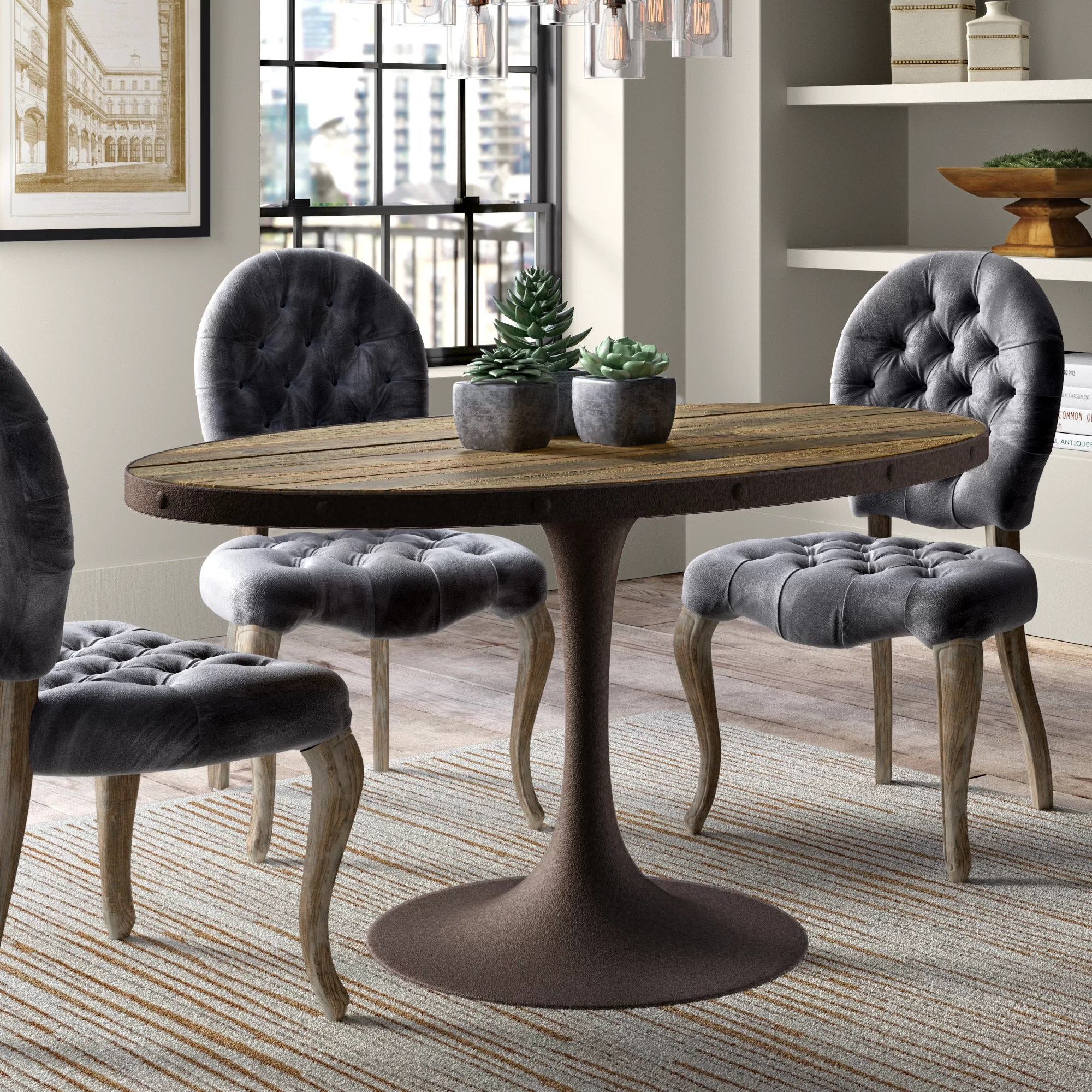 al s chairs and tables chair cover hire hemel hempstead amherst industrial wood top dining table reviews birch lane