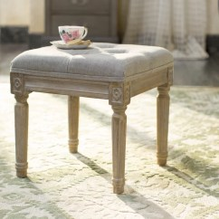 Country Cottage Living Room Decor Small With Wood Floors Lark Manor Letellier Vanity Stool & Reviews | Wayfair