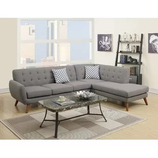 hayden sectional sofa with reversible chaise lay z boy bobkona wayfair quickview