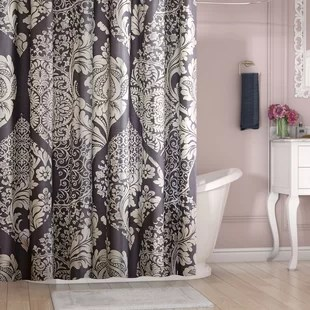 shower curtain in living room black lamp tables for with window wayfair boyden cotton
