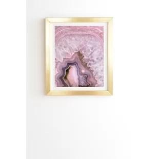 pink and gold wall art wayfair