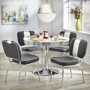 retro dining room table and chairs chair exercises for older adults 1950 sets wayfair quickview
