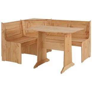 corner booth seating kitchen island size wayfair co uk durham dining set with 1 bench