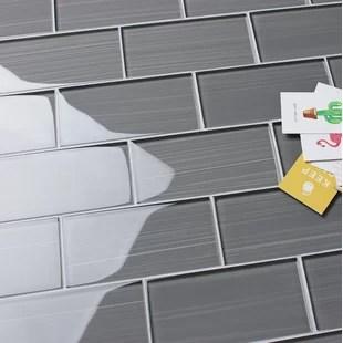 gray glass backsplash tile home design