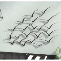 Trent Austin Design Handcrafted Flock of Birds Metal Art ...