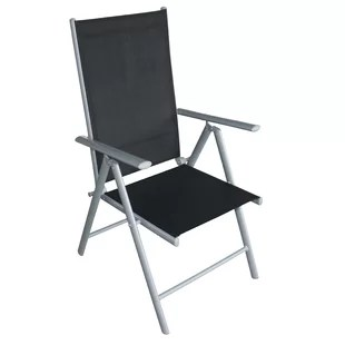 black metal folding garden chairs foldable long sofa chair wayfair co uk cooke set of 4