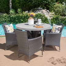 Callicles Outdoor 5 Piece Dining Set With Cushions Joss