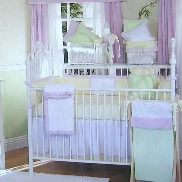Brandee Danielle Froggy Lavender 13 Piece Crib Bedding Set