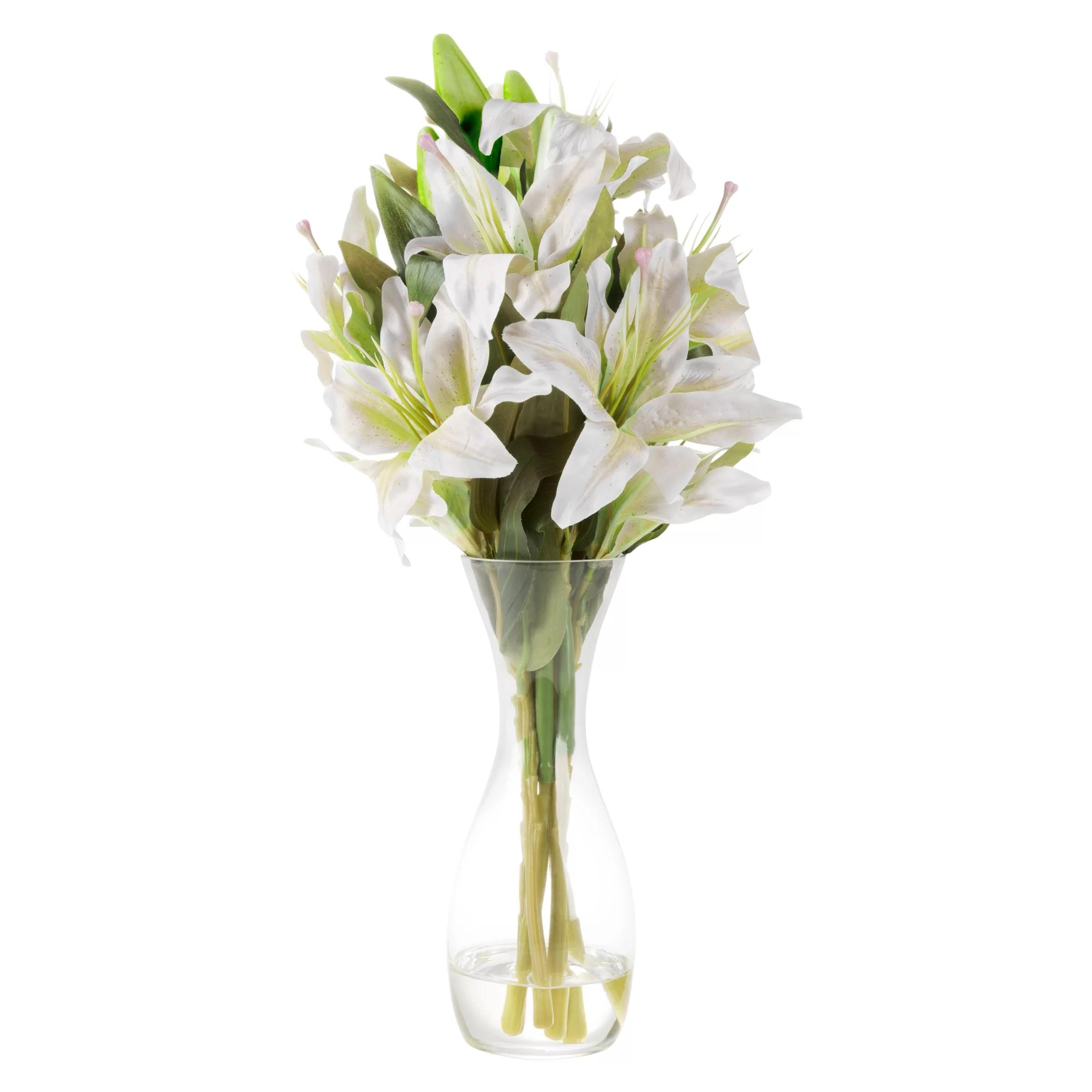 tall lily floral arrangement