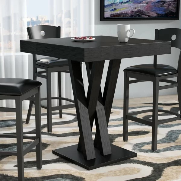 bar height kitchen table how much is cabinet installation dining room sets wayfair
