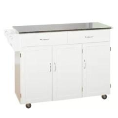 White Kitchen Island Cart Led Faucet Modern Islands Carts Allmodern Quickview Espresso