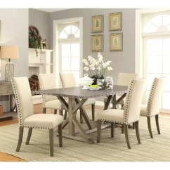 Kitchen Table And Chairs With Wheels Office Chair No Arms Dining Sets Joss Main Athens 7 Piece Set