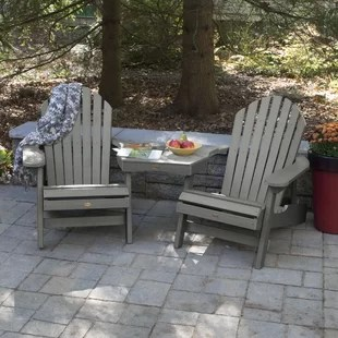 gray adirondack chairs used dinning chair and table set wayfair quickview