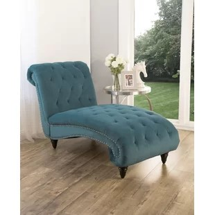 tufted chaise lounge chair beach chairs with footrest velvet wayfair quickview