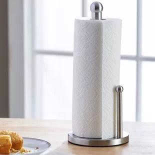 kitchen paper towel holder kidkraft grand gourmet corner play set find napkin holders for your wayfair basics stainless steel