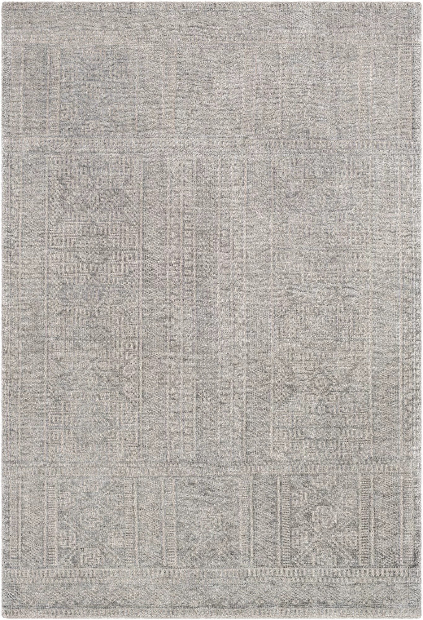 Union Rustic Lyndhur Traditional Hand Knotted Gray Taupe