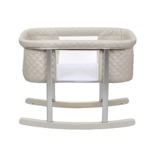 rocking chair cradle office mesh with bassinet wayfair quickview