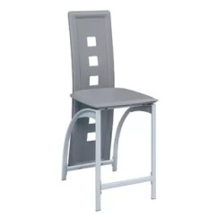 High Kitchen Chairs Barbecue Counter Wayfair Ca Metal Frame Chair With Eyelet Design Grey White Set Of 2