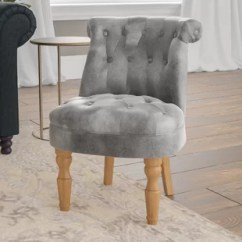 Crushed Velvet Chair Bassett Ellis Executive Silver Wayfair Co Uk Quickview
