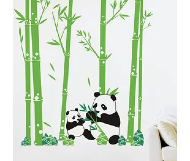 Pandas Love Bamboo Wall Decal