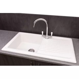 ceramic kitchen sink cheap wall cabinets for reginox sinks you ll love wayfair co uk quickview single bowl inset