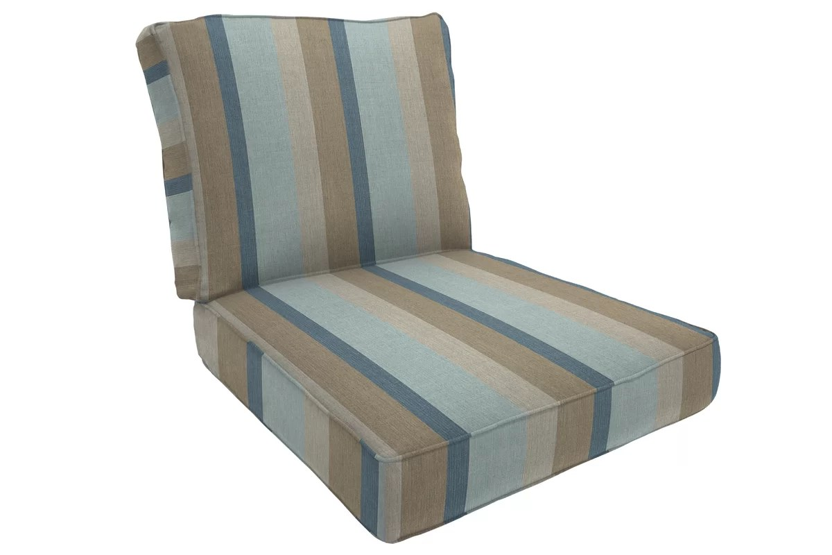 double lounge chair outdoor black and white striped sashes wayfair custom cushions piped