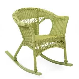 wicker rocking chairs knoll chadwick chair resin wayfair