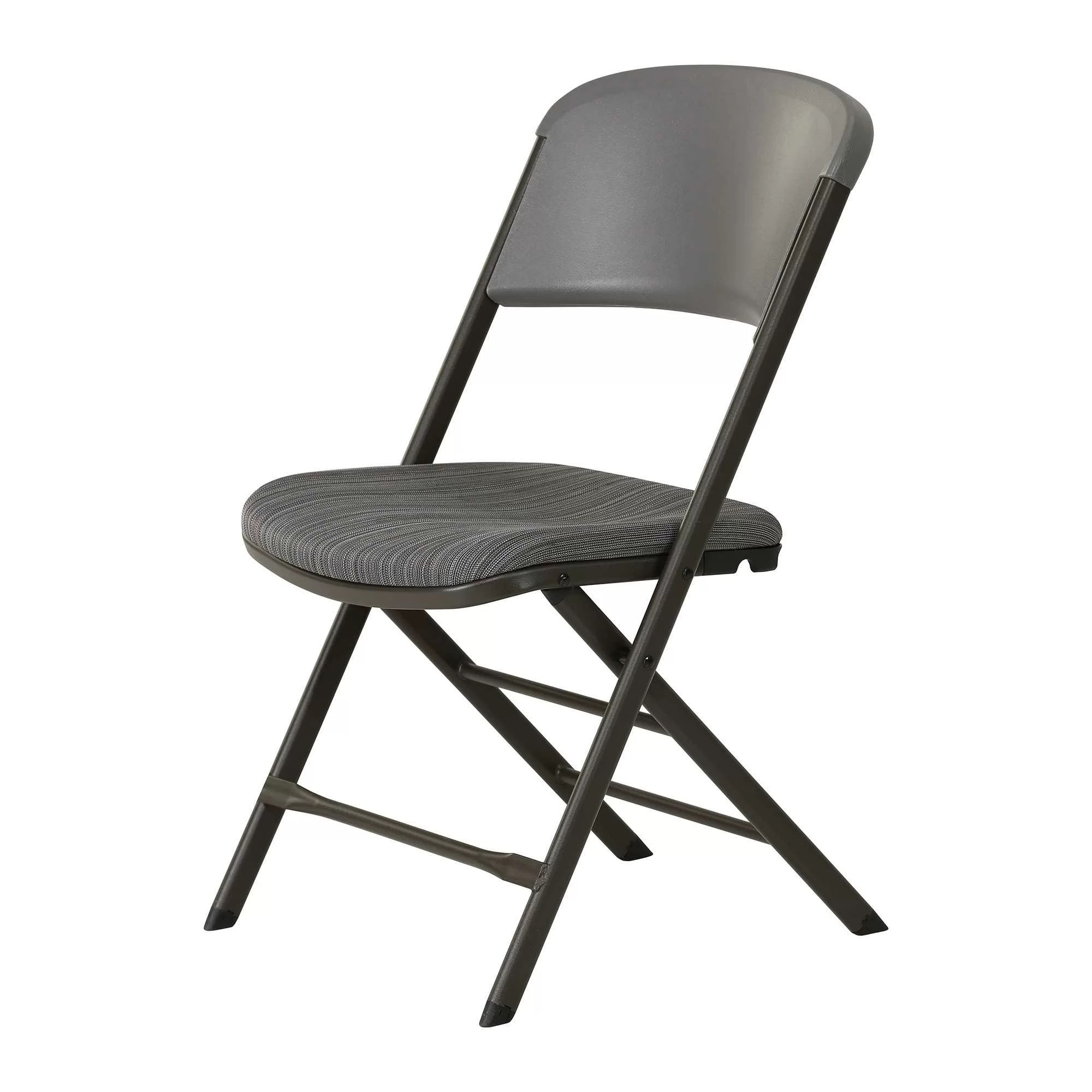 cloth padded folding chairs eames replica chair lifetime commercial fabric reviews wayfair