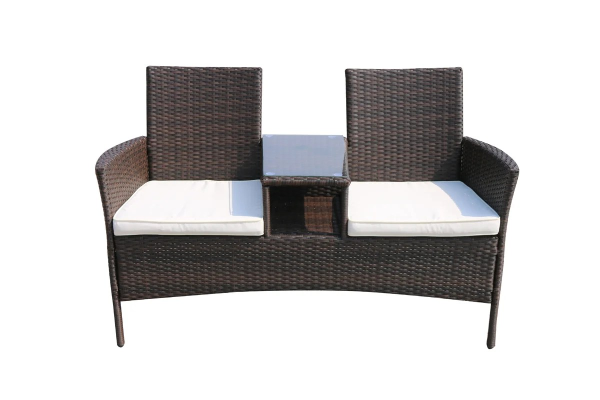 tete a chair outdoor target upholstered suntime living forres wicker bench