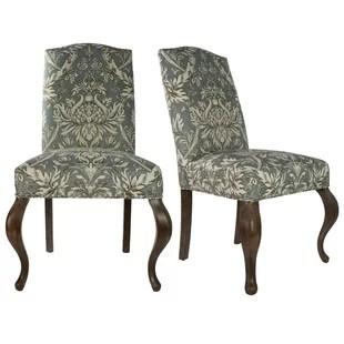 queen ann chairs loose chair covers dublin anne leather wayfair spring upholstered side set of 2