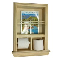 WG Wood Products Recessed Magazine Rack and Toilet Paper