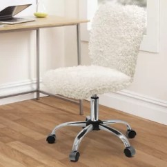 Fluffy Desk Chair Steel India Faux Fur Chairs You Ll Love Wayfair Quickview