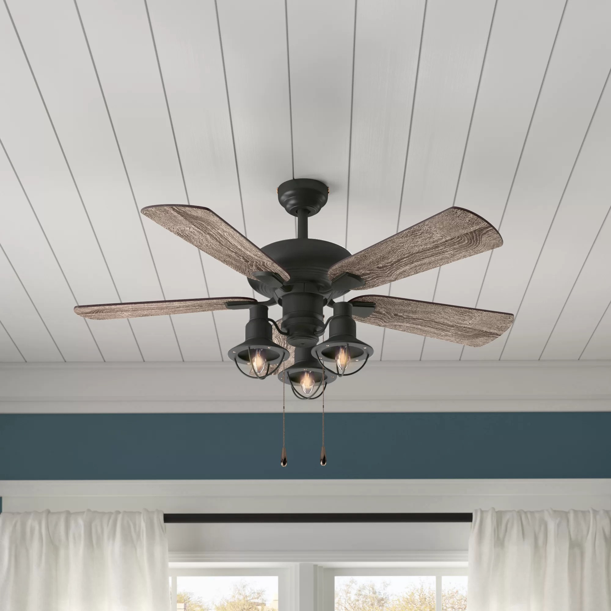 hight resolution of birch lane heritage 42 raymer 5 blade led ceiling fan light kit included reviews birch lane