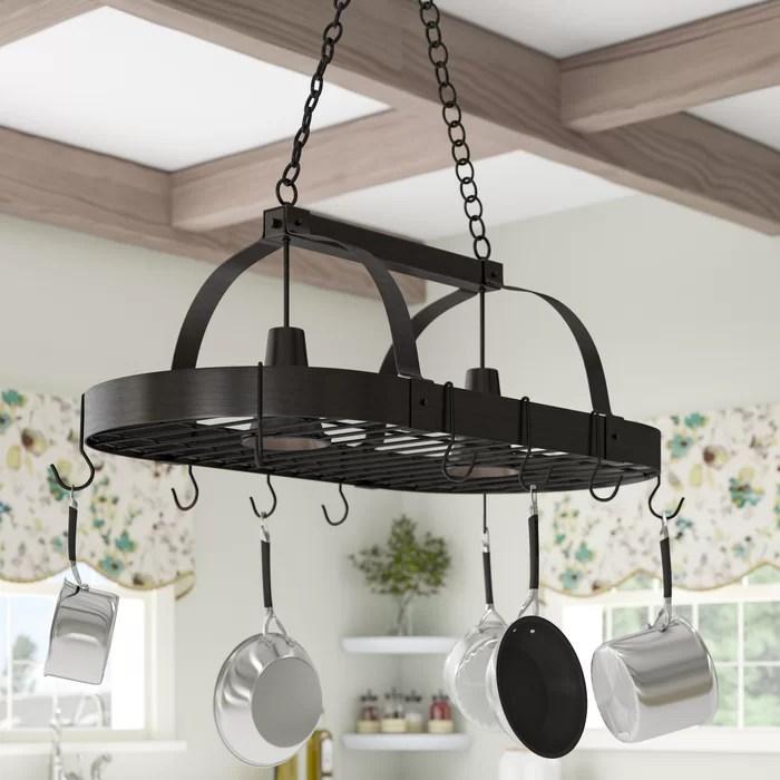 kitchen pot racks motion faucet darby home co 2 light rack reviews wayfair ca