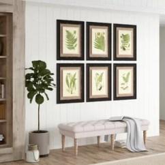Framed Artwork For Living Room Decorating Ideas Wallpaper Set Of 6 Prints Wayfair Frond Piece Graphic Art Print