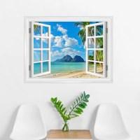 Wallums Wall Decor Island Paradise Window Wall Decal | Wayfair